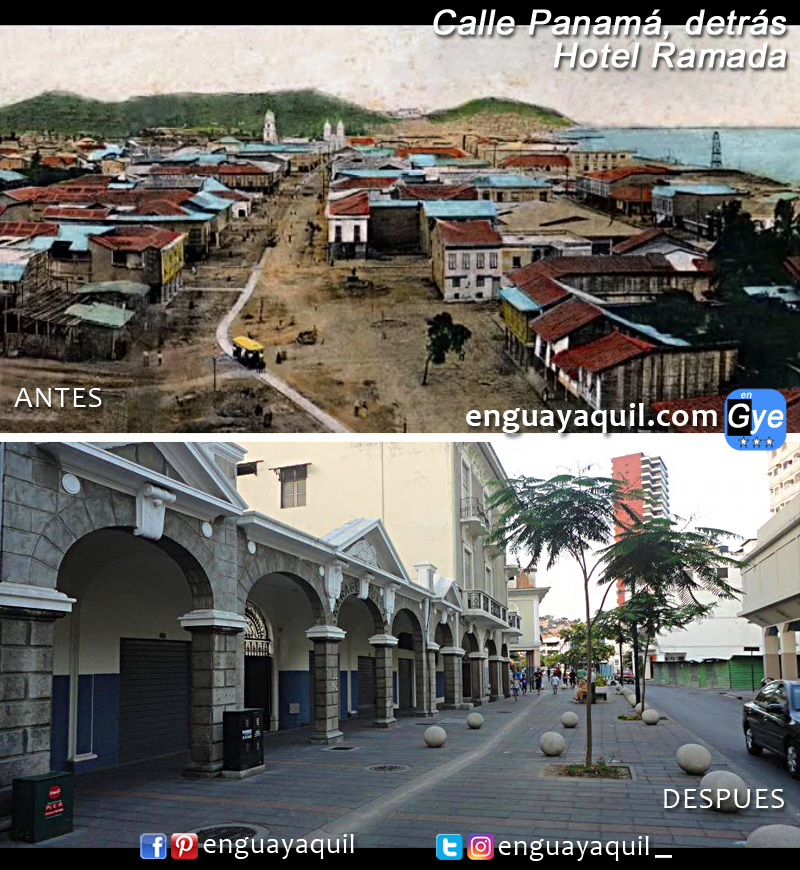 Calle Panama Guayaquil antes