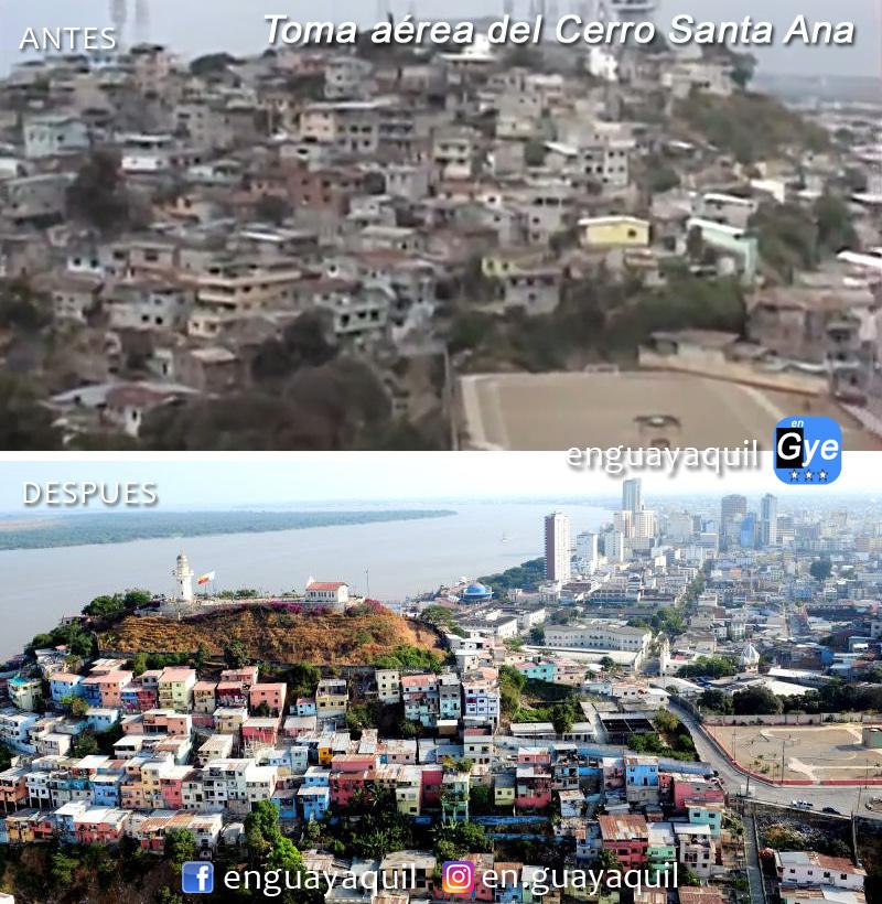Cerro Santa Ana antes y despues