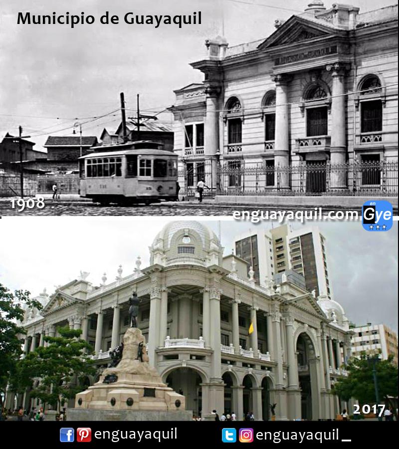 Municipio de Guayaquil antes y despues