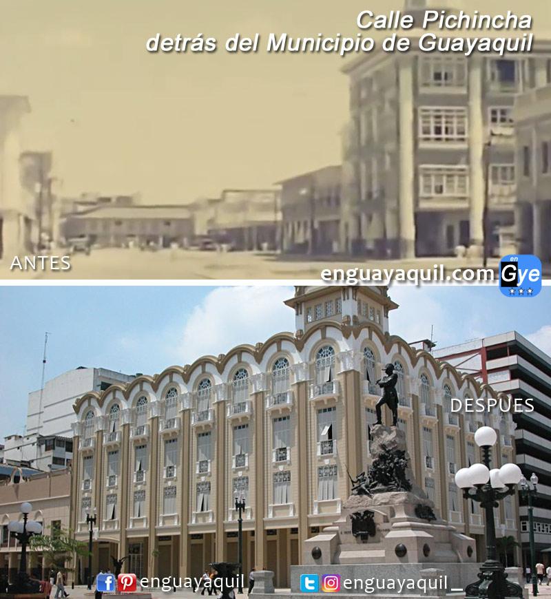 Centro de Guayaquil antes y despues