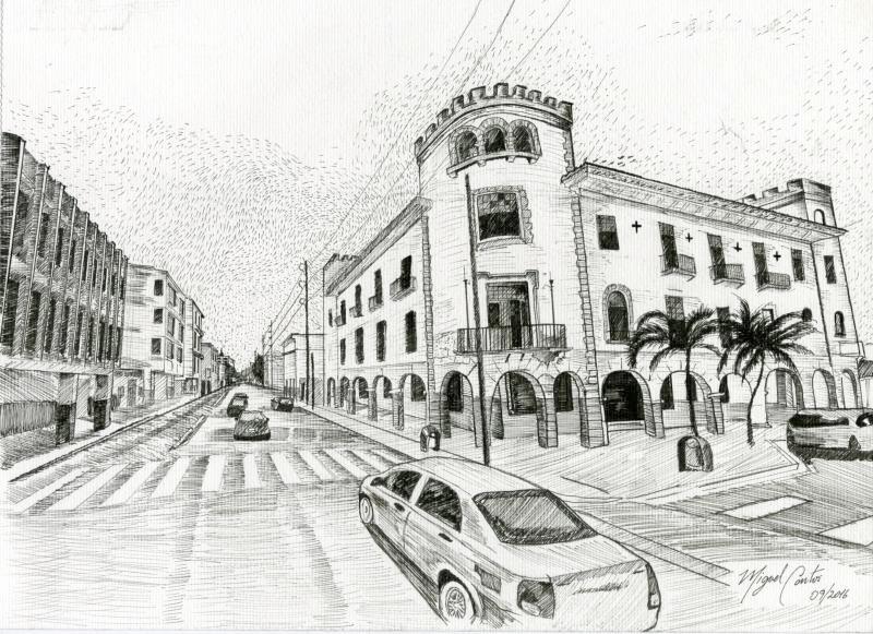 Dibujo de Guayaquil Moderno