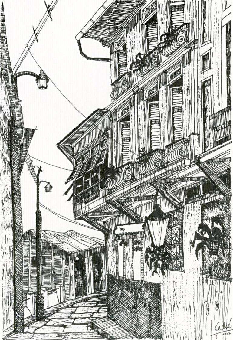 Dibujo de Guayaquil Las Peñas