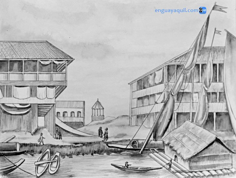 Dibujos de Guayaquil Antiguo para colorear
