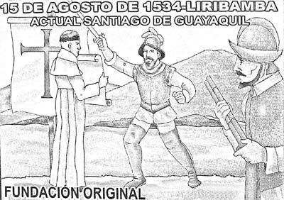 Dibujo de Fundación de Guayaquil