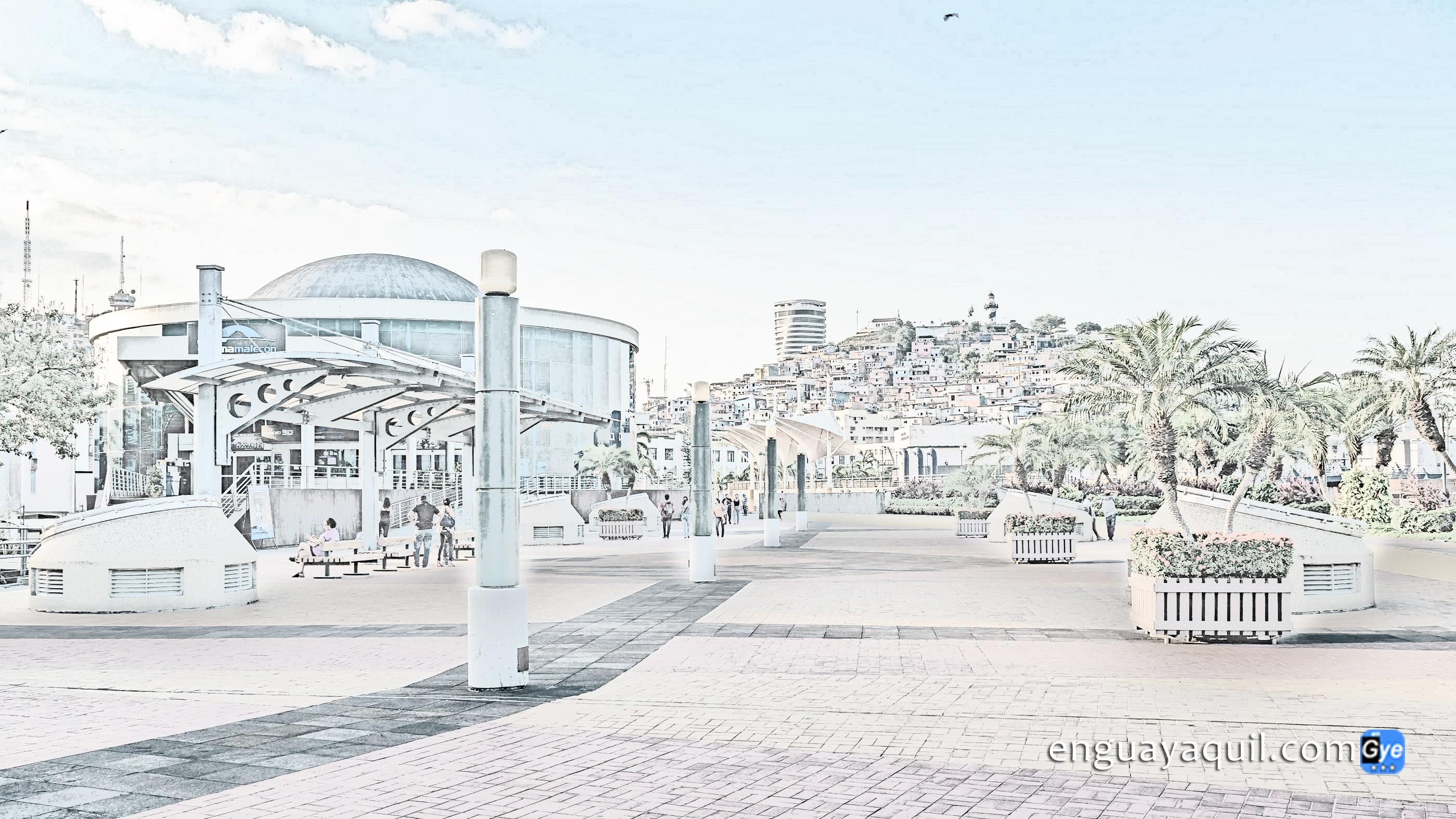 Dibujos de Guayaquil para colorear Malecon 2000