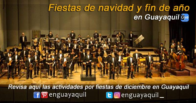 Fiestas navidad y fin de año en Guayaquil