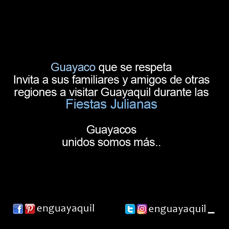Guayaco invita a las Fiestas Julianas