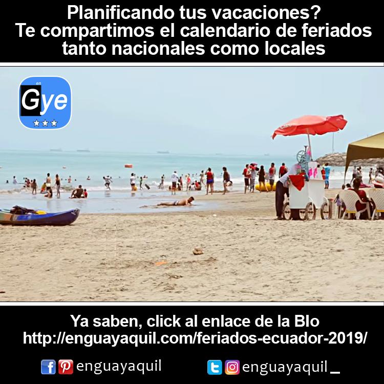 Feriados Ecuador 2019