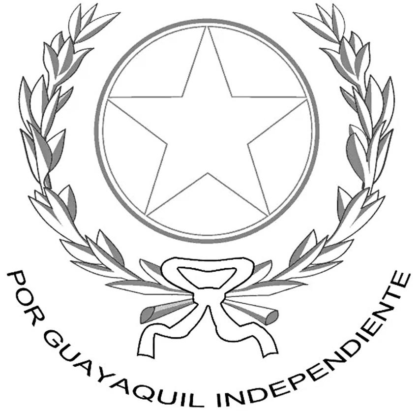 Escudo de Guayaquil para dibujar