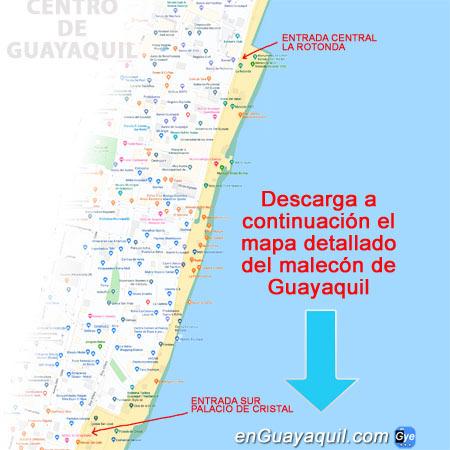Mapa del Malecón 2000