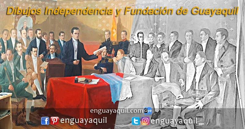 Dibujos independencia de Guayaquil